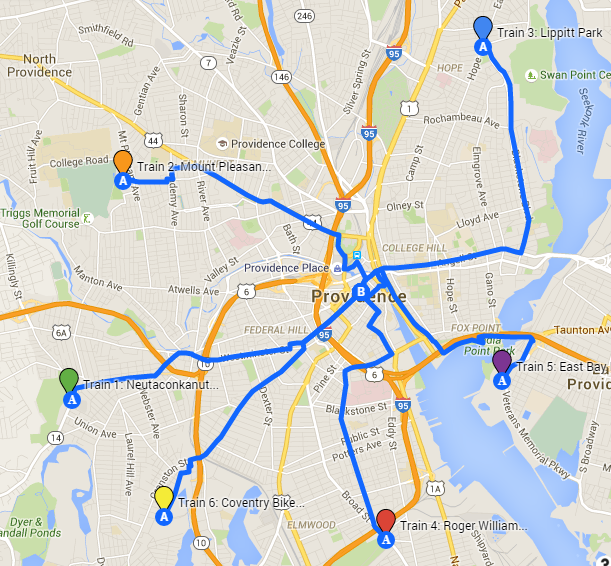 BTWD bike train map