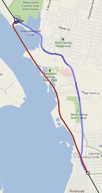East Bay Bike Path Winter 2011 Closure Map